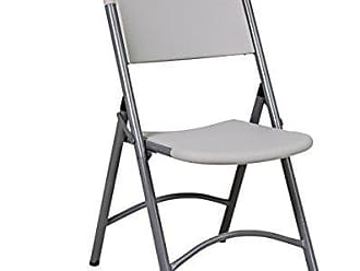 Office Star Resin Multi-Purpose Sqaured Folding Chair with Grey Accents, Set of 4