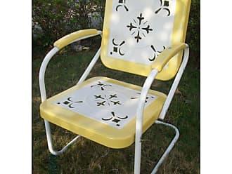 4D Concepts Outdoor 4D Concepts Retro Metal Bounce Chair Lime/White - 71340
