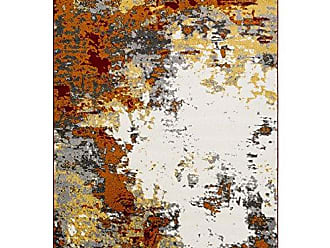 Surya Cantrell Charcoal and Orange Modern Area Rug 53 x 76