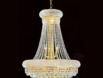 Worldwide Lighting W83035G24 Empire 14 Light 1 Tier 24 Gold