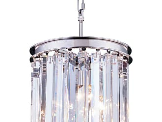 Urban Classic Sydney Collection 12 in. Pendant Silver-Shade Crystals Polished Nickel - 1208D12PN-SS/RC