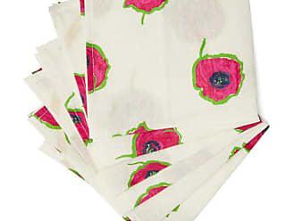 La DoubleJ La Doublej - Floral Print Linen Napkin Set - Womens - White Multi