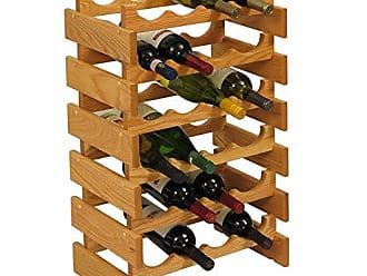 Wooden Mallet 24 Bottle Dakota Wine Rack, Light Oak
