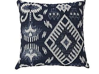Benzara BM177990 Contemporary Style Throw Pillows, Set of Two, Blue and White, Navy