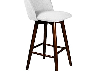 SOUTH CONE Nicoletta 26 in. Upholstered Counter Stool with Swivel Espresso - NICOLCS26/WAL/ESPRESSO