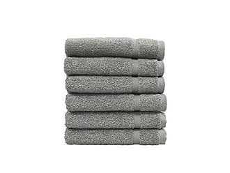 Linum Home Textiles 100% Turkish Cotton Denzi Washcloths, Set of 6, Dark Grey