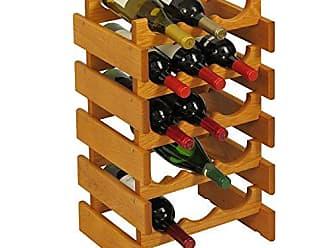 Wooden Mallet 15 Bottle Dakota Wine Rack, Medium Oak