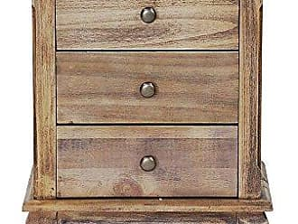 Heather Ann Creations W22352-FH 23.6 Inch Pine Crest Collection 3 Drawer Handmade Storage Accent Cabinet, Farmhouse Rustic
