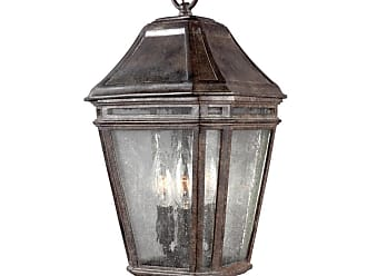Feiss Londontowne 15 3-Light Outdoor Hanging Lantern in Chestnut