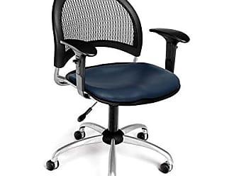 OFM 336-VAM-AA3-605 Moon Swivel Vinyl Chair with Arms, Navy