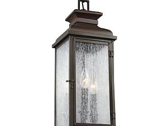 Feiss Pediment 2 - Light Outdoor Pendant in Dark Aged Copper