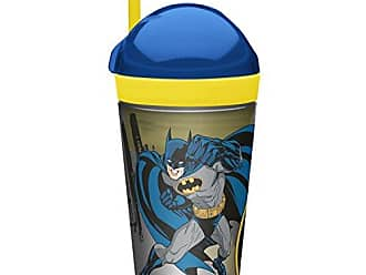 Zak designs Batman ZakSnak All-In-One Drink Tumbler + Snack Container For Toddlers - Spill-proof 4oz Snack Container Screws Securely Onto 10oz Tumbler With Accessible Straw, Batman