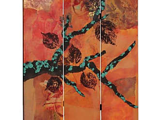 Oriental Furniture 5 ft. Tall Rich Autumn Canvas Room Divider