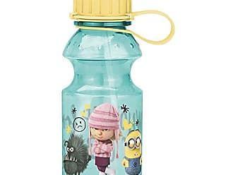 Zak designs Despicable Me 14oz Kids Water Bottle with Straw - BPA Free with Easy Clean Design, Despicable Me 3