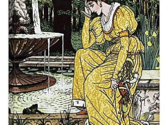 Bentley Global Arts Global Gallery Budget GCS-449879-1824-142 Walter Crane Frog Prince-in Yellow Gallery Wrap Giclee on Canvas Wall Art Print
