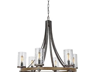 Feiss F3134/6 Angelo 6 Light 31 Wide Chandelier Distressed Weathered