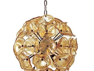 ET2 E22093 Fiori 20 12 Light Pendant Amber Murano Indoor Lighting