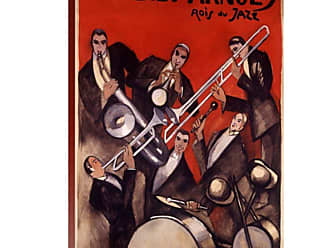 Great Big Canvas Billy Arnold Jazz Band Poster Thick-Wrap Canvas Wall Art Print by Paul Colin - AH6847-FIN_24_18X24_NONE