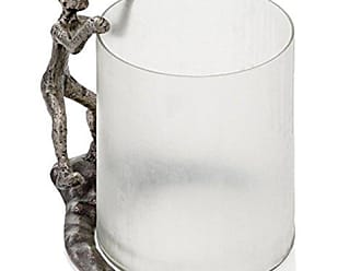 Modern Day Accents 6613 Trepador Chiseled Glass Hurricane