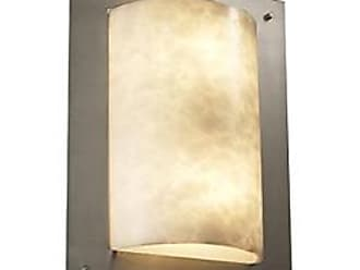 Justice Design Group Clouds Framed Rectangle Wall Sconce