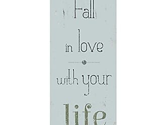 Portfolio Canvas Decor Canvas Print Wall Art - Fall in Love - 8x20 by IHD Studio Stretched and Wrapped, Ready to Hang