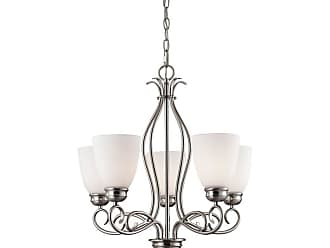 Thomas Lighting 1105CH Chatham 5 Light 22 Wide Chandelier with White