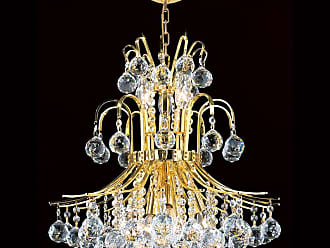 Worldwide Lighting W83043G19 9 Light 1 Tier 19 Gold Chandelier with