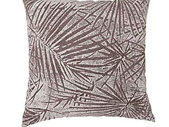 Benzara BM178007 Contemporary Style Palm Leaves Designed Throw Pillows, Set of Two, Brown