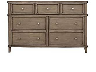 Alpine Furniture 1055-03 7 Drawer Dresser, Brown