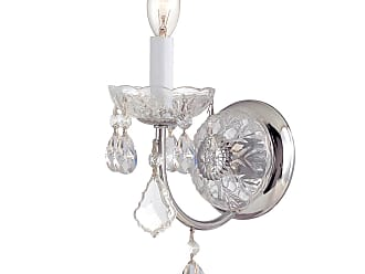 Crystorama Imperial Collection Wall Sconce in Polished Chrome w/Hand Polished Crystal