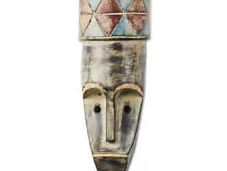 Novica African wood mask, Round Hat