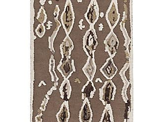 Surya MDT1006-3656 Hand Woven Casual Accent Rug, 3-Feet 6-Inch by 5-Feet 6-Inch, Chocolate/Taupe/Beige