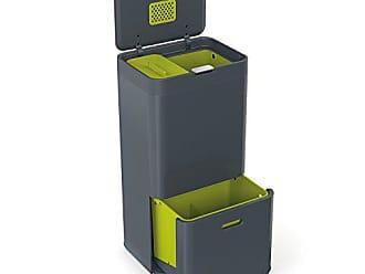 Joseph Joseph 30002 Intelligent Waste Totem Kitchen Trash Can and Recycle Bin Unit with Compost Bin, 16 gallon / 60 liter, Graphite