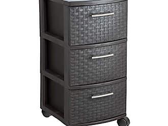 Inval America MQ 391-WEN Infinity 3-Drawer Rolling Storage Cart, Espresso