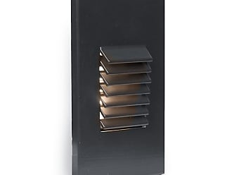 WAC Lighting 1-Light LED Vertical Louvered Step and Wall Light in Black