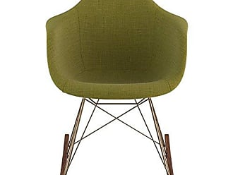 NyeKoncept 332002RO2 Mid Century Rocker Chair, Avocado Green