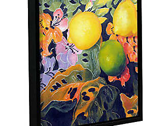 ArtWall Marina Petros Limes and Lemons Gallery-Wrapped Floater-Framed Canvas, 14 by 14