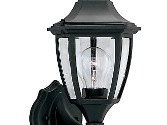 DESIGNERS FOUNTAIN 2462-BK Builder Cast Aluminum 7 Wall Lantern in Black finish with Clear glass