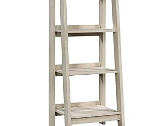 Sauder Sauder 424124 Trestle 3-Shelf Bookcase, L: 19.06 x W: 16.61 x H: 45.08, Chalked Chestnut finish