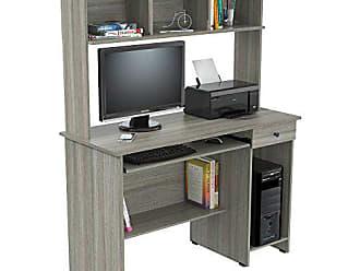Inval America Inval CC-6701 Computer Desk, Smoke Oak