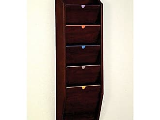 Wooden Mallet 5-Pocket Privacy Chart Holder, HIPAA Compliant, Letter Size, Mahogany