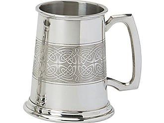 /Zwei Celtic Bands und traditionelle Standard Griff Edwin Blyde /& Co 1/Pint Bierkrug mit massivem Metall Boden/ Zinn