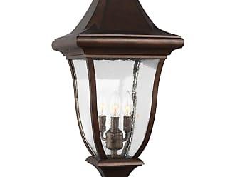 Feiss Oakmont - 3 - Light Outdoor Post Lantern in Patina Bronze