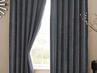 Ellery Homestyles ABSOLUTE ZERO Blackout Curtains for Bedroom - Velvet 50 x 84 Insulated Darkening Single Panel Rod Pocket Window Treatment Living Room, Stone Blue