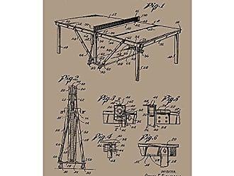 Inked and Screened SP_SPRT_2,645,539_KR_17_K Table Tennis-Ping Pong Silk Screen Print, 11 x 17 Kraft - Black Ink