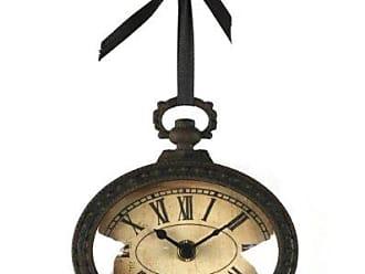 Zentique Zentique Vintage Oval Clock with Ribbon