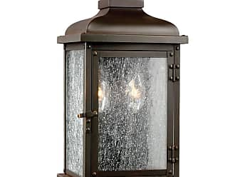 Feiss Pediment 2 - Light Outdoor Sconce in Dark Aged Copper