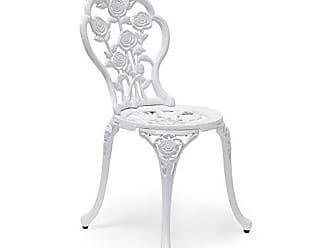Relaxdays Bistrostuhl HBT 81 X 41 X 41 Cm Gartenstuhl Aus Aluminium Stuhl  Für Terrasse Und