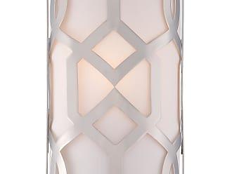 Crystorama Libby Langdon for Crystorama Jennings 1 Light Nickel White Linen Sconce