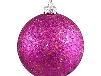 Queens of Christmas WL-ORN-BLKG-100-PI-W WL-ORN-BLKG-100-PI-W - 100mm Glitter Pink ball ornament w/wire
